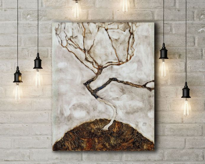 Egon Schiele: Small Tree in Late Autumn. Fine Art Canvas.